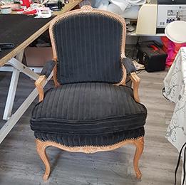 Restauration textile de fauteuils à Orchies